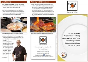 Catering Partyservice Flyer Herbst Winter 2015 2016